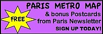 Grab your FREE Paris Metro Map + Newsletter today!