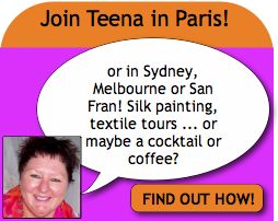 Join Teena Hughes in Paris, Sydney, Melbourne or San Francisco for  a fabulous adventure!