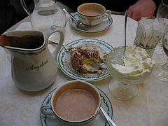Chez Angelina - hot chocolate in Paris, France