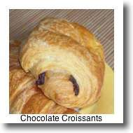 What to eat in Paris? Chocolate croissants are a delicious treat for breakfast.