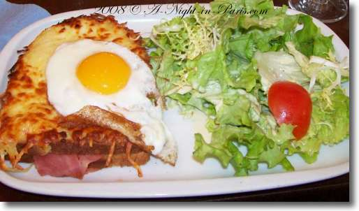 The traditional French food Croque Madame is actually just a Croque Monsieur with a fried egg on top.