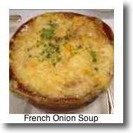 What to eat in Paris? You can't go past the traditional French Onion Soup.
