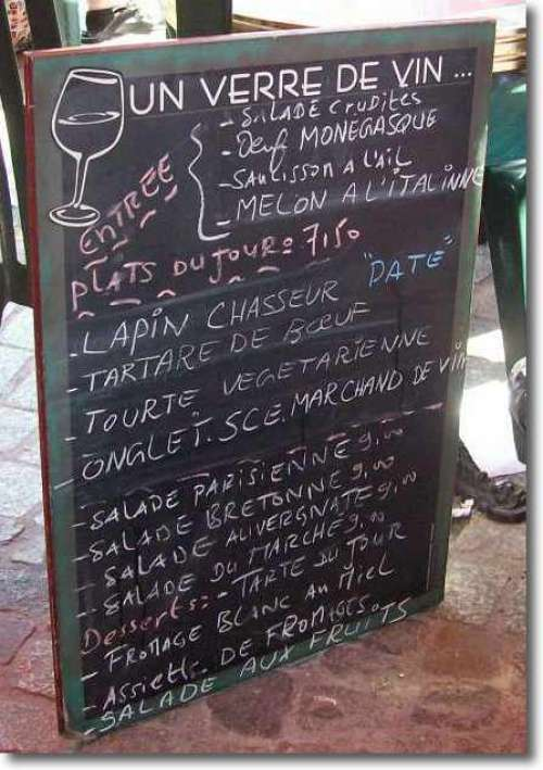 Another famous French food menu item is rabbit - which I enjoy as I was brought up eating rabbit stews.