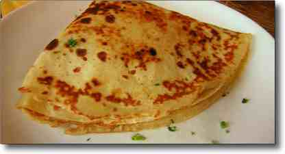 French food and wines - savoury crepes