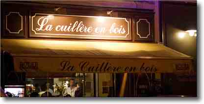 French food and wines : Cuilliere en Bois crepe restaurant
