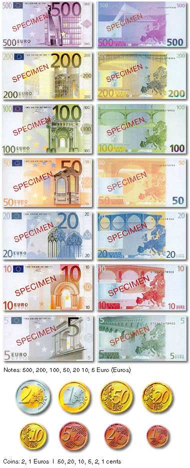mjp65aa: France uses the Euro currency. The bills are very colorful compared