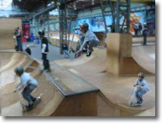 Indoor activities for kids include Rollerparc for skateboarding, rollerblading and ice skating in Paris