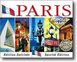 Map of Paris France - pop-out map