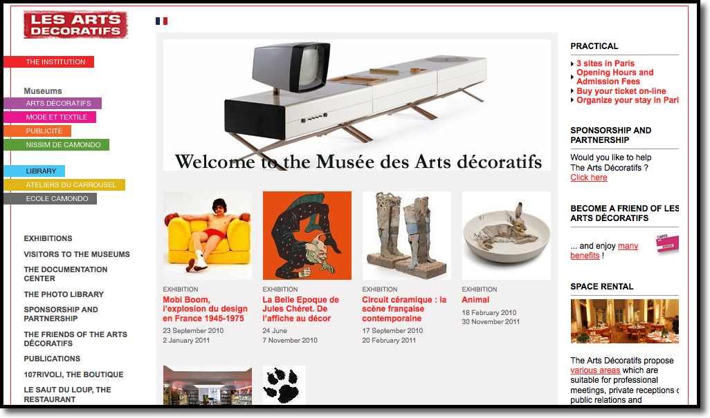 Les Arts Decoratif Museum in Paris, France