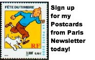 Sign up for my Postcards from Paris newsletter today!