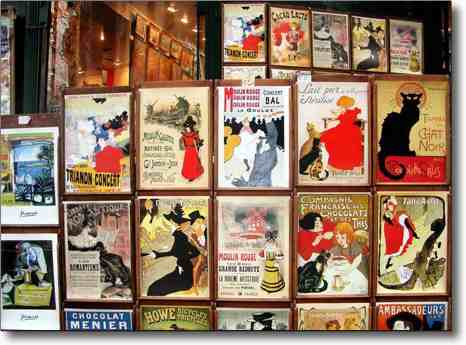 Paris France Christmas markets and posters