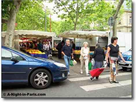 Paris Market street scene