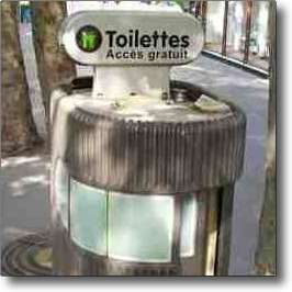 Public toilets in Paris France are very clean and hygienic