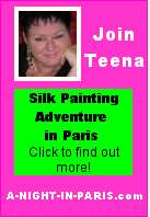 Join Teena Hughes for a fantastic silk painting adventure in Paris!