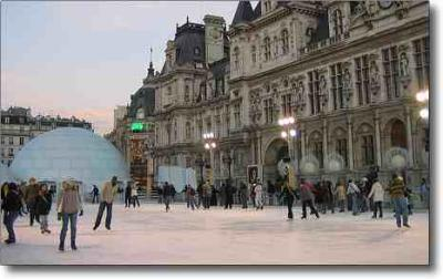 Things to do in Paris in January - iceskating at l'Hotel de Ville