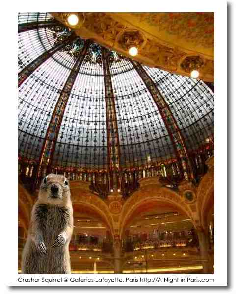 Travel Squirrel in Paris at the Galleries Lafayette