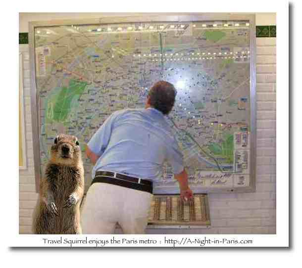 Travel Squirrel in the Paris Metro