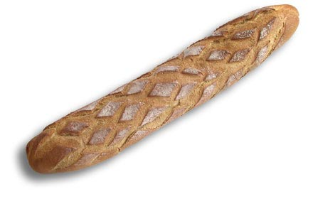 Typical French food - le pain de compagne long