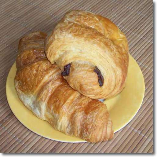 What to eat in Paris? Croissants and pain au chocolat at home.