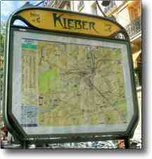 A Night in Paris Site Search - Map of Kleber Metro