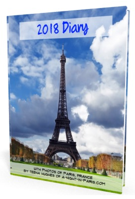 2018 Diary featuring the Eiffel Tower and other Paris photos