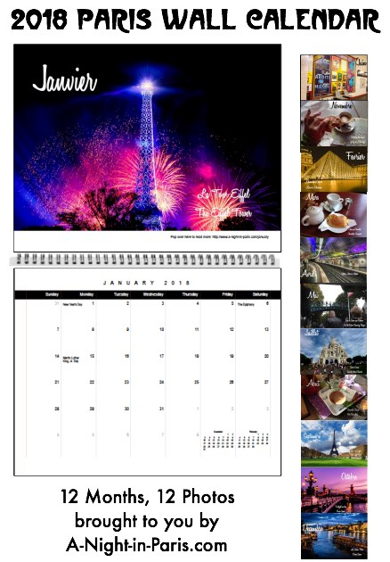 My 2018 Paris Calendar by Teena Hughes
