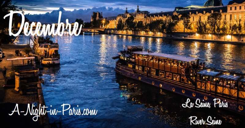 Postcards from Paris December 2017 - RIVER SEINE
