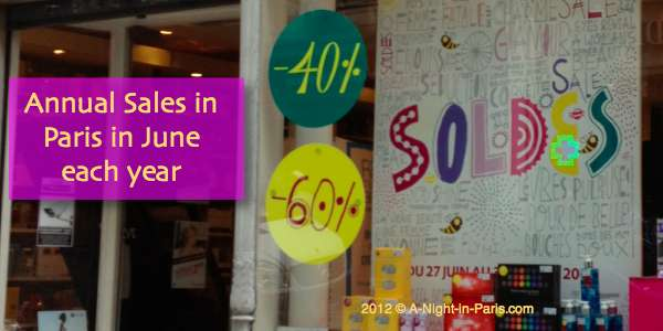The annual sales in Paris are in June each year