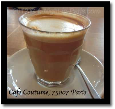 Cafe Coutume - my latte from the side (image)