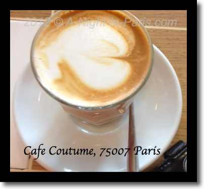 Cafe Coutume latte from the top (image)