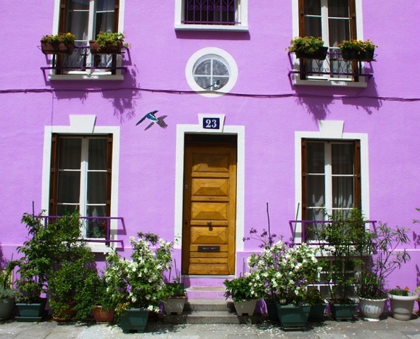 Photos of Paris - rue Cremieux lilac house photo by Charles Moncrieff III