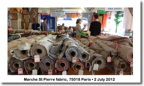Fabric inside March St Pierre, 75018 Paris (image)