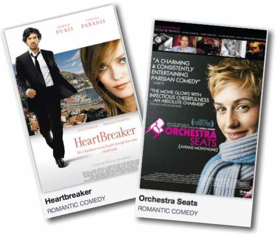 French movie HEARTBREAKER and ORCHESTRA SEATS
