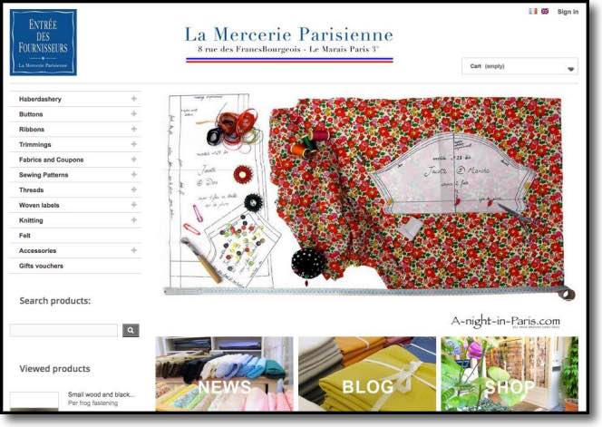 Haberdashery shops in Paris - La Mercerie Parisienne