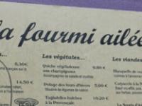 Vegetarian La Fourmi Ailee
