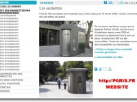 What is the location of public toilets in Paris?
