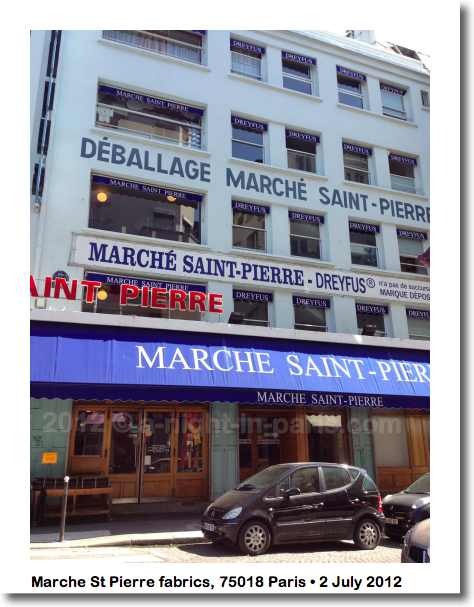Marche St Pierre fabric store, 75018 Paris - best place for textiles (image)