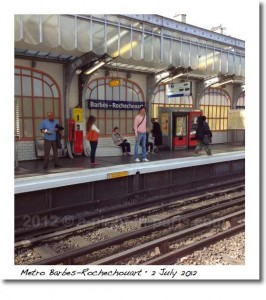Metro Barbes-Rochechouart above ground (image)