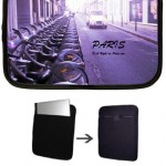 Netbook Cover with Paris car & velibs
