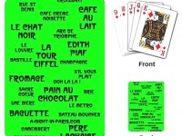 Pack of Playing Cards with French words