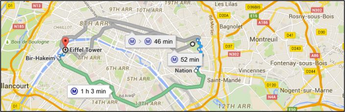 Paris Transport Changes come into force September 2015