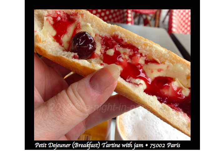 Petit Dejeuner in Paris - tartine and jam looks great (image)