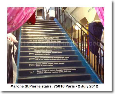 The stairs inside Marche St Pierre, 75018 Paris (image)