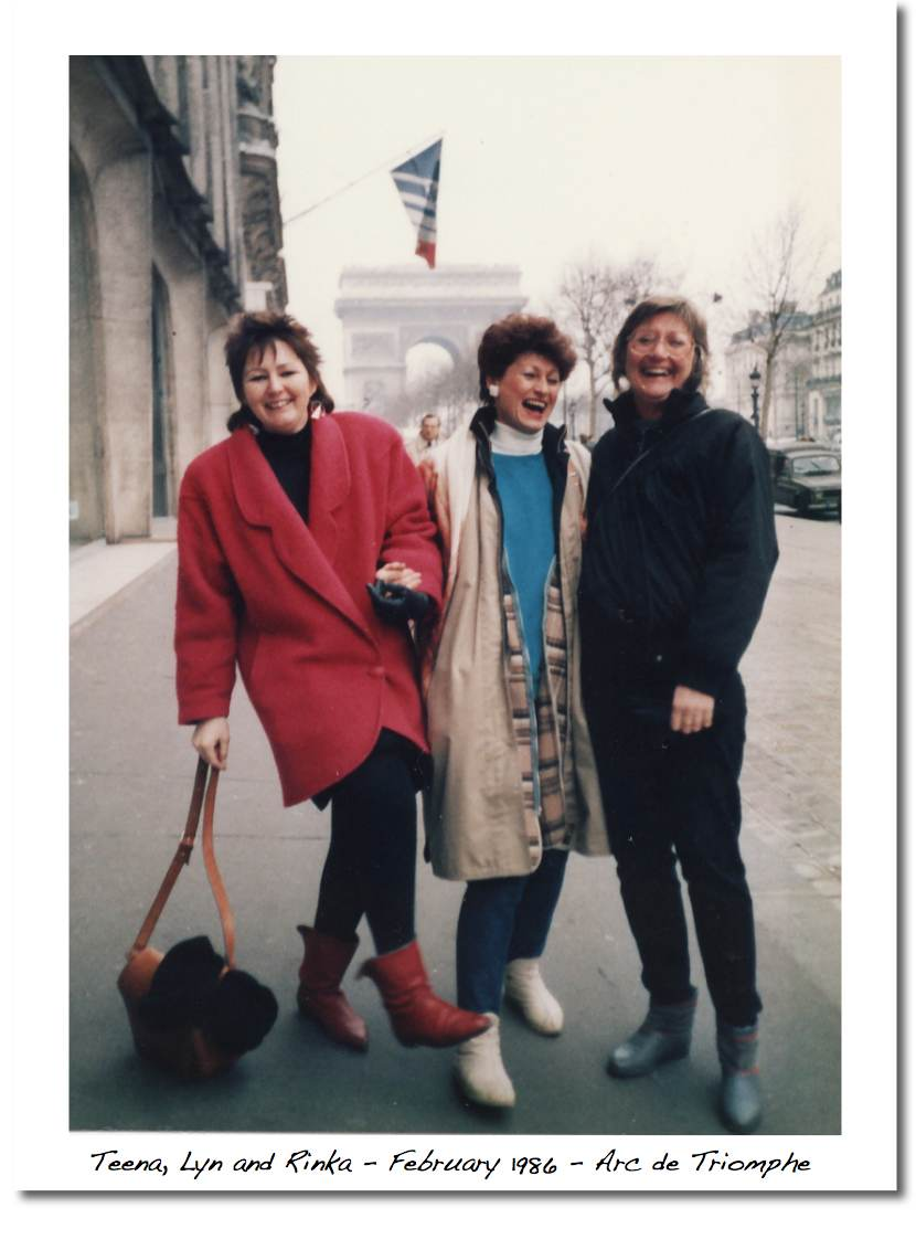 Teena, Lyn & Rinka in Paris at l