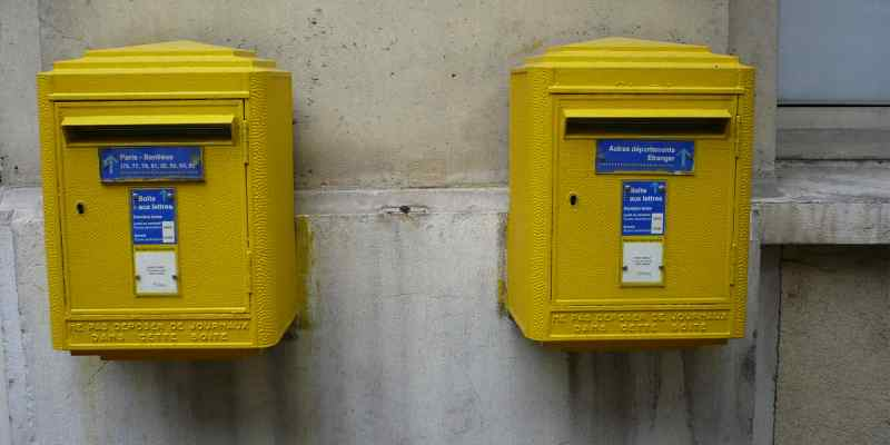 Dreaming of Paris - yellow letterboxes